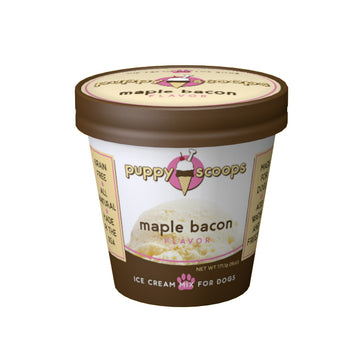 Puppy Scoops Maple Bacon Flavoured Ice Cream Mix For Dogs