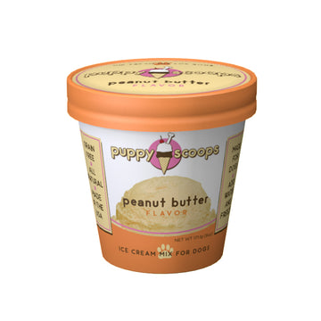 Puppy Scoops Peanut Butter Flavoured Ice Cream Mix For Dogs