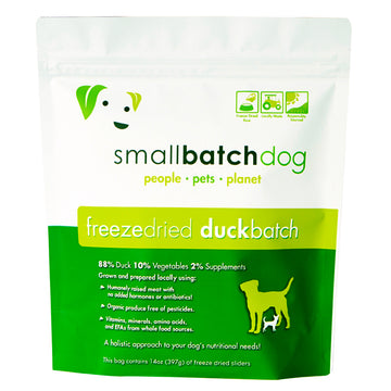 Smallbatch Freeze Dried Duck Batch Sliders Dog Food 14oz