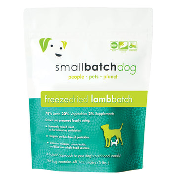 Smallbatch Freeze Dried Lamb Batch Sliders Dog Food 14oz