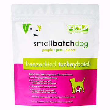 Smallbatch Freeze Dried Turkey Batch Sliders Dog Food 14oz