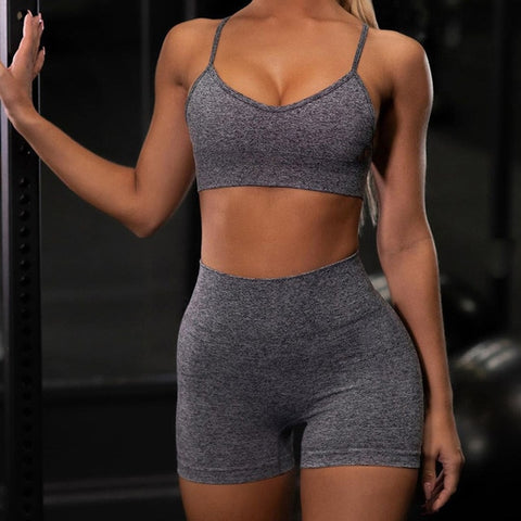 Image of Seamless ThickFit Shorts + Bra Set