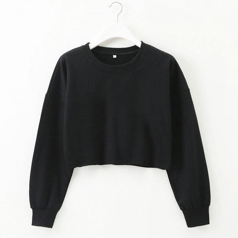 Image of Crop Pullover Sweater