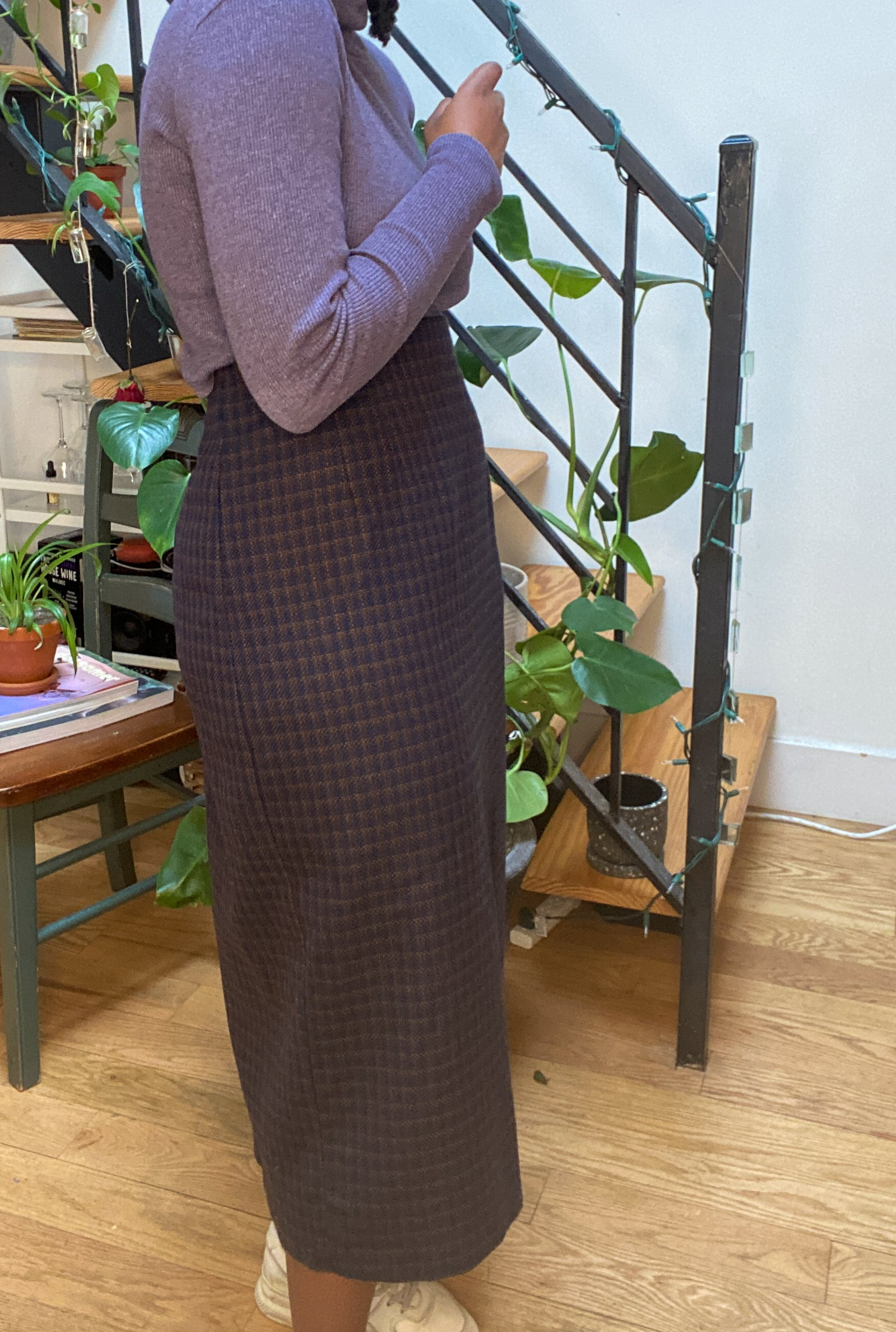 Vintage Purple Wool Skirt