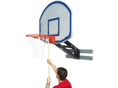Bison QwikChange™ Graphite Basketball Shooting Station with Fan Shaped Backboard