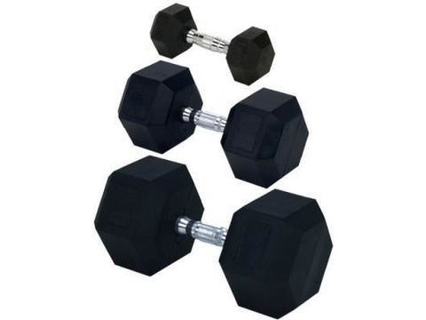 Rubber Hex Dumbbell Set (55-100 lb.)