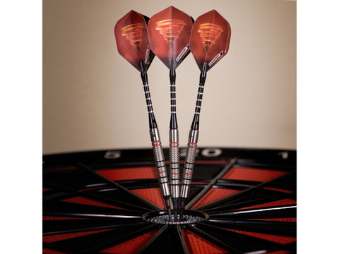 Image of Elkadart Tornado 90% Tungsten Soft Tip Dart Set 3 Red and 4 Black Rings 18 Grams