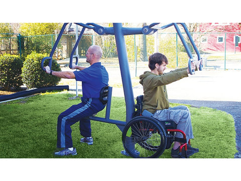 Image of Accessible Chest Press - Outdoor Fitness