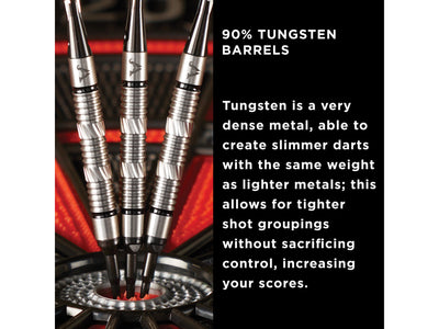 Viper Element 90% Tungsten Soft Tip Darts Grooved Barrel 18 Grams