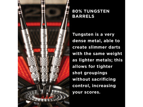 Image of Viper Bully 80% Tungsten Soft Tip Darts 3 Knurled Rings 18 Grams