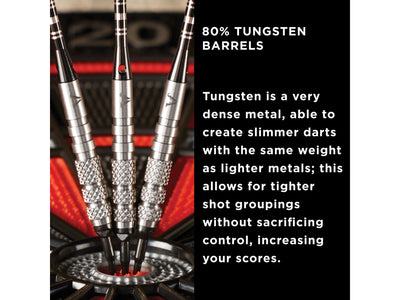 Viper Bully 80% Tungsten Soft Tip Darts 3 Knurled Rings 18 Grams