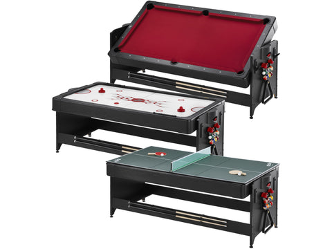 Image of Fat Cat Original 3-in-1 7' Pockey Multi-Game Table Red