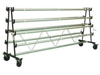 Gym Floor Cover Mobile Storage Rack - 6/8/10 Rollers