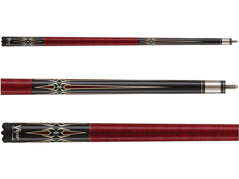Image of Viper Sinister Series Cue with Red Diamonds