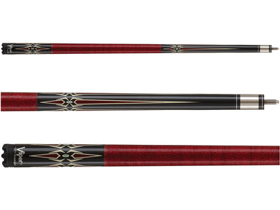 Viper Sinister Series Cue with Red Diamonds