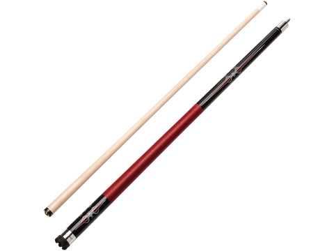Image of Viper Sinister Series Cue with Red and Black Wrap