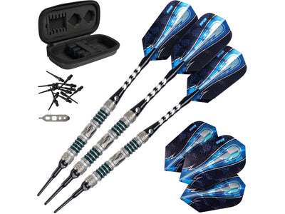 Viper Astro 80% Tungsten Soft Tip Darts Green Rings 18 Grams