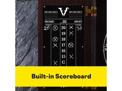 Viper Vault Deluxe Dartboard Cabinet with Pro Score