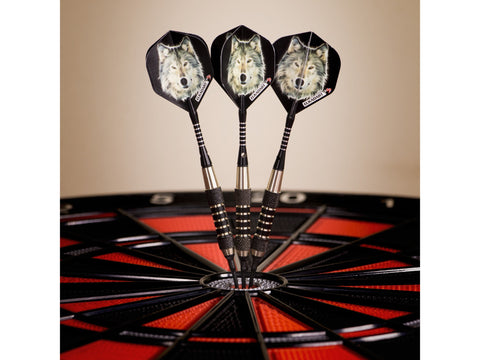 Image of Elkadart Lone Wolf Soft Tip Darts Silver With Black Knurling