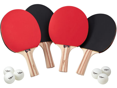 Image of Viper Two Star Tennis Table Four Racket and Six Ball Set