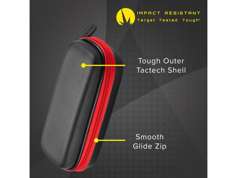 Image of Casemaster Sentry Dart Case with Red Zipper
