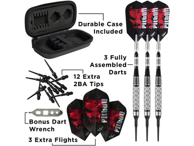 Viper Pitbull 90% Tungsten Soft Tip Darts Diamond Cut Barrel 18 Grams