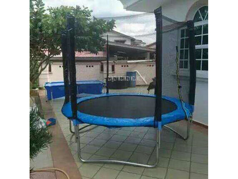8 Feet High Quality Practical Trampoline With Safety Protective Net Jump Safe Bundle Spring Safety With Ladder