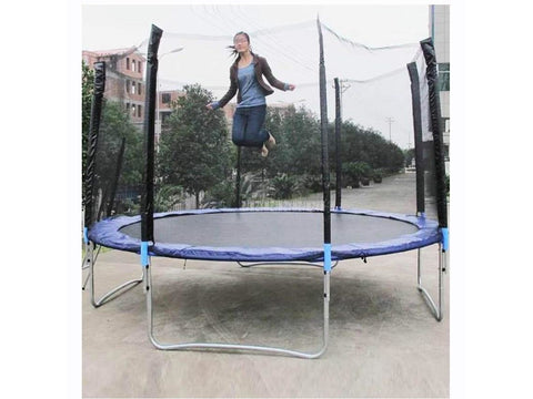 12 Feet High Quality Practical Trampoline With Safe Protective Net Jump Safe Bundle Spring Safety With Ladder