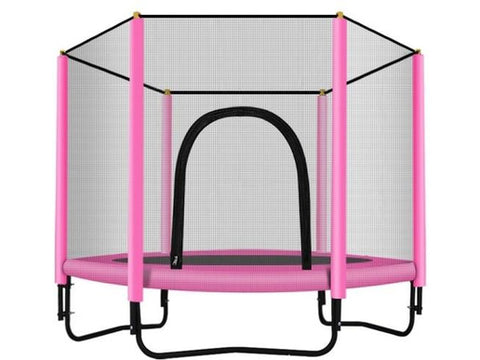 Image of 60 inch Trampoline with Safety Enclosure -Indoor or Outdoor Trampoline for Kids