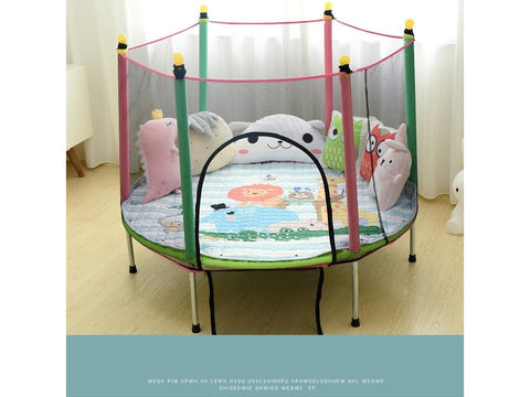 Indoor Trampoline with Protection Net and Jumping Bed For Kids & Baby fun at Home