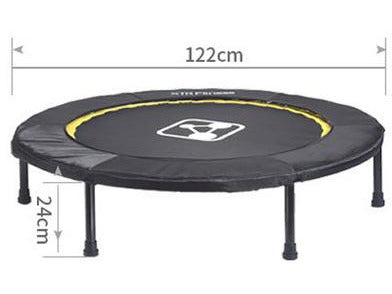 Foldable Exercise Fitness Trampoline Rebounder For Adults Home Indoor Gym Cardio Workout Stability Training Tool