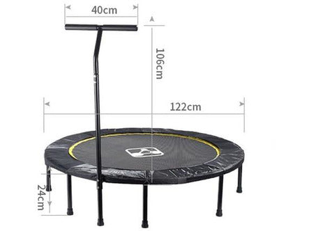 Image of Foldable Exercise Fitness Trampoline Rebounder For Adults Home Indoor Gym Cardio Workout Stability Training Tool
