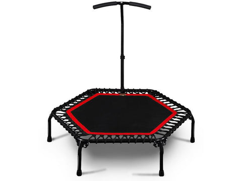 Image of Foldable Exercise Fitness Trampoline Rebounder For Adults Home Indoor Gym Cardio Jump Workout Stability Training Tool
