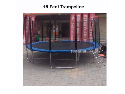 16 Feet High Quality Practical Trampoline With Safe Protective Net Jump Safe Bundle Spring Safety With Ladder