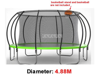 16 Feet Outdoor Trampoline With High Protective Net Safety Supper Large Commercial Kindergarten Bouncing Bed For Kids