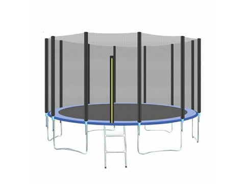 Image of High Quality Trampoline With Protective Net For Children and Adult Indoor Outdoor Home Recreation and Fun