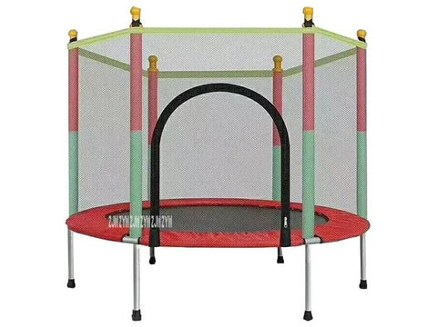 Image of 1001 Indoor Children's Round Trampoline Family Toy Small Bouncing Bed Household Jumping Bounce Bed With Protecting Wire Net