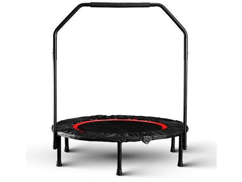 Foldable Mini 40 inch Fitness Trampoline with Foam Handle for Jumping Exercise Indoor and outdoor