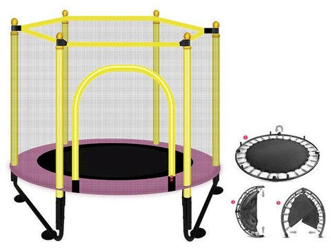"Foldable Trampoline 48"" Round Kids Enclosure Exercise Trampoline"