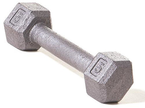 Hex Dumbbell w/ Straight Handle 5 lb