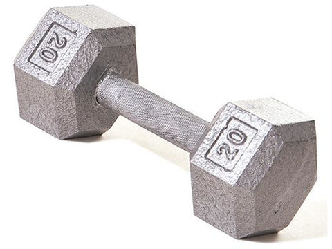 Hex Dumbbell w/ Straight Handle 20 lb