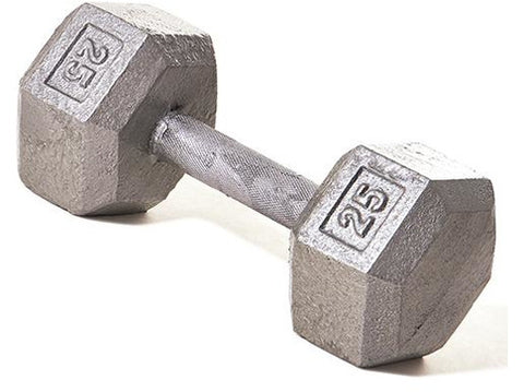Hex Dumbbell w/ Straight Handle 25 lb