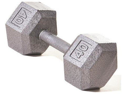 Hex Dumbbell w/ Straight Handle 40 lb