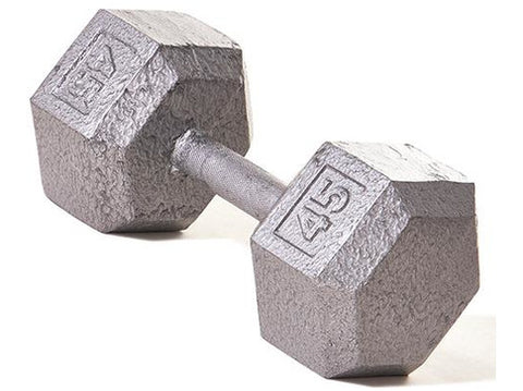 Hex Dumbbell w/ Straight Handle 45 lb