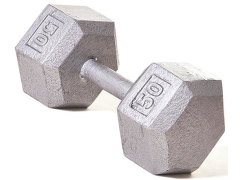 Hex Dumbbell w/ Straight Handle 50 lb