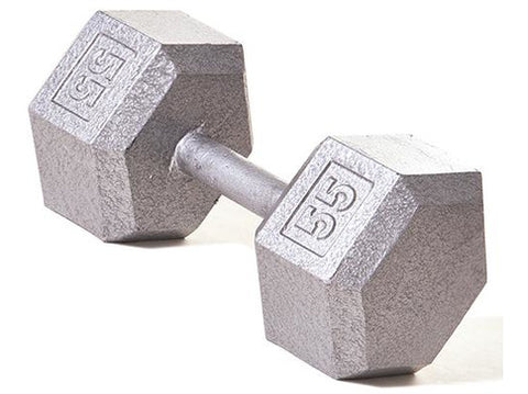Hex Dumbbell w/ Straight Handle 55 lb