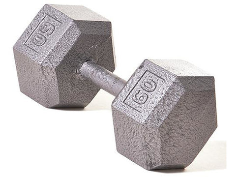 Hex Dumbbell w/ Straight Handle 60 lb