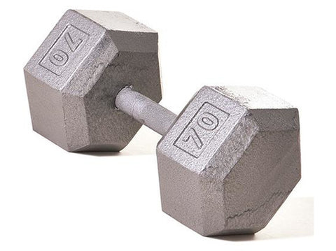 Hex Dumbbell w/ Straight Handle 70 lb