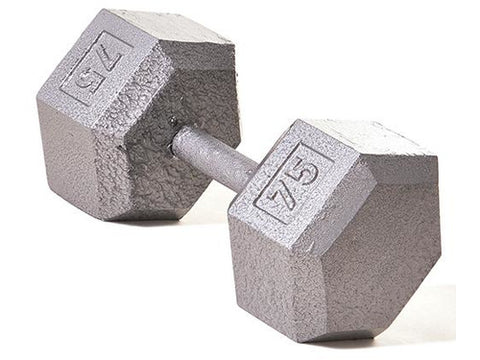 Hex Dumbbell w/ Straight Handle 75lb