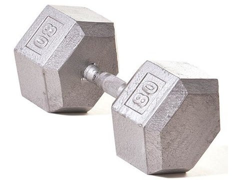 Hex Dumbbell w/ Straight Handle 80 lb